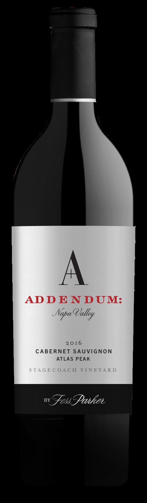 2016 Addendum Cabernet Sauvignon, Stagecoach Vineyard, Atlas Peak - bottle shot
