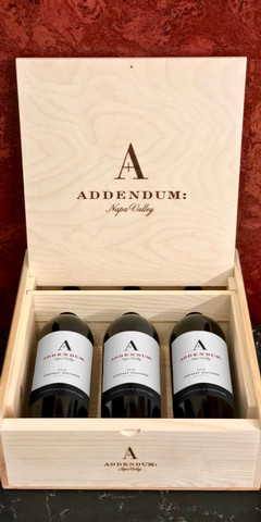 2015 Addendum Stagecoach Vineyard Cabernet 3-Bottle Wood Box Set