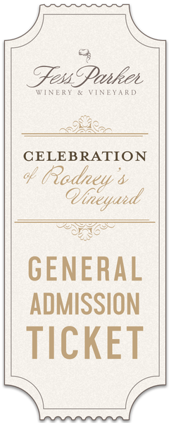 2019 A Celebration of Rodney's Vineyard- Guest Ticket