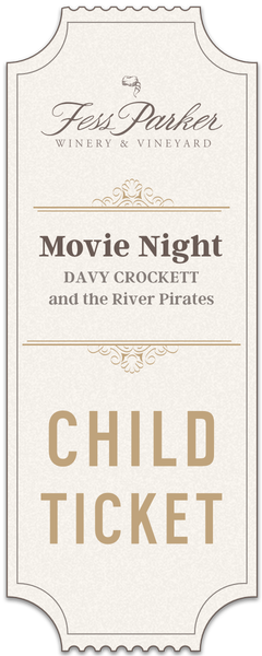 2019 Movie Night at Fess Parker Winery- Child Ticket