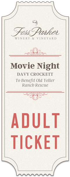 2017 Movie Night - Adult Ticket
