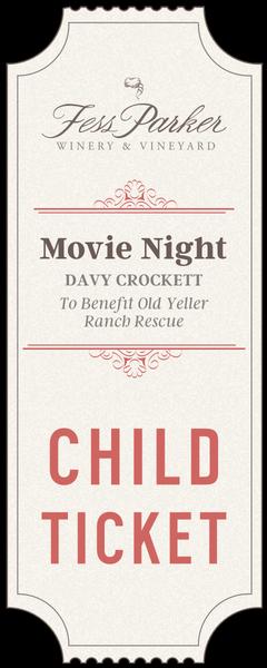 2017 Movie Night - Child Ticket