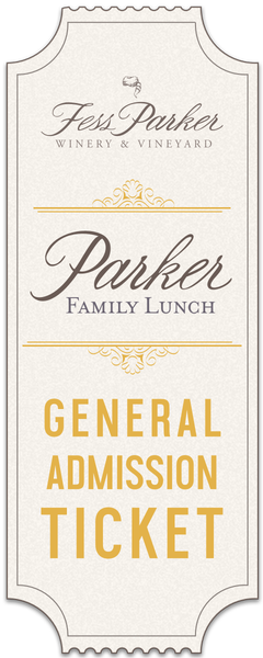 2018 Parker Family Lunch - May 11 - Gen. Admission