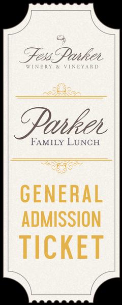 2018 Parker Family Lunch - Jun 22 - Gen. Admission