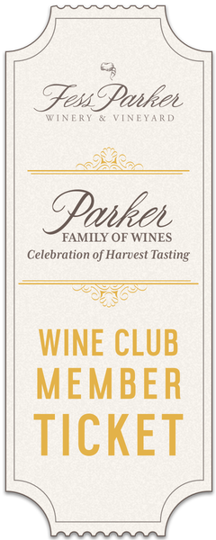 2018 Parker Family of Wines Harvest Tasting - Sunday - Wine Club