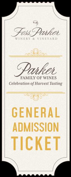 2018 Parker Family of Wines Harvest Tasting - Saturday - Gen. Admission