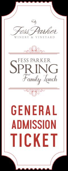 2017 Spring Family Lunch  - April 7 - Gen. Admission