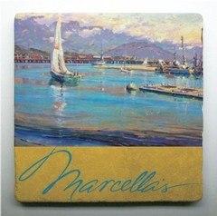 Coaster; Marcella's Label