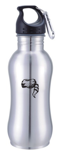 Water Bottle- Stainless Steel w/ Coonskin Cap Logo