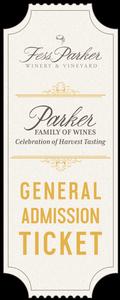 2018 Parker Family of Wines Harvest Tasting - Sunday - Gen. Admission