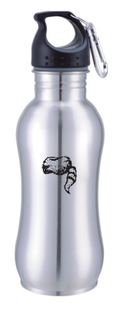 Water Bottle- Stainless Steel w/ Coonskin Cap Logo Image