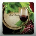 Coaster; Fess Parker- Wine Barrel